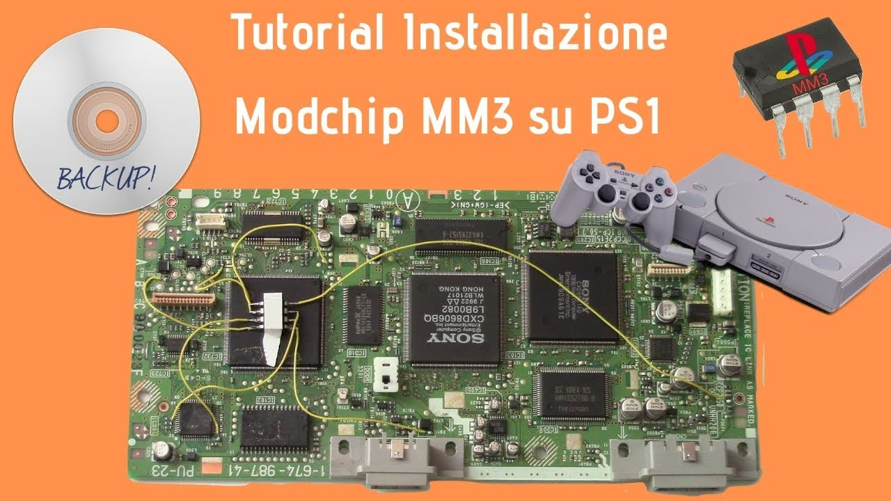 [TUTORIAL] Installazione Modchip MM3 su PS1 - Modifica PSX - SCPH-9002