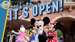 Yesterday was the first day any disney park open anywhere in world months. shanghai disneyland re-opened, and with it, there is video so that we ...