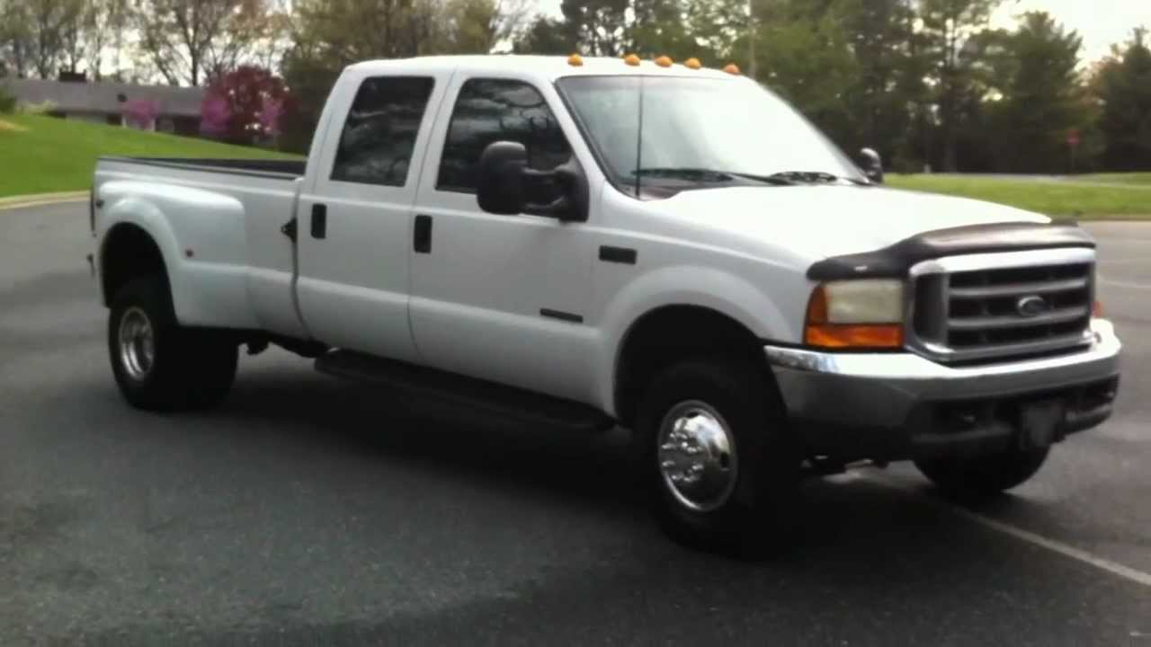 1999 ford f350 crew dually xlt 4x4 214k 7 3l powerstroke turbo diesel youtube