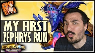 MY FIRST ZEPHRYS RUN! - Hearthstone Battlegrounds