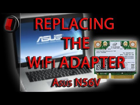 Replacing The WiFi Adapter In An Asus N56V Laptop