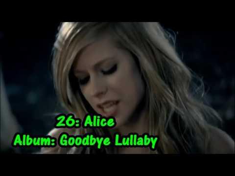 Top 46 Avril Lavigne songs