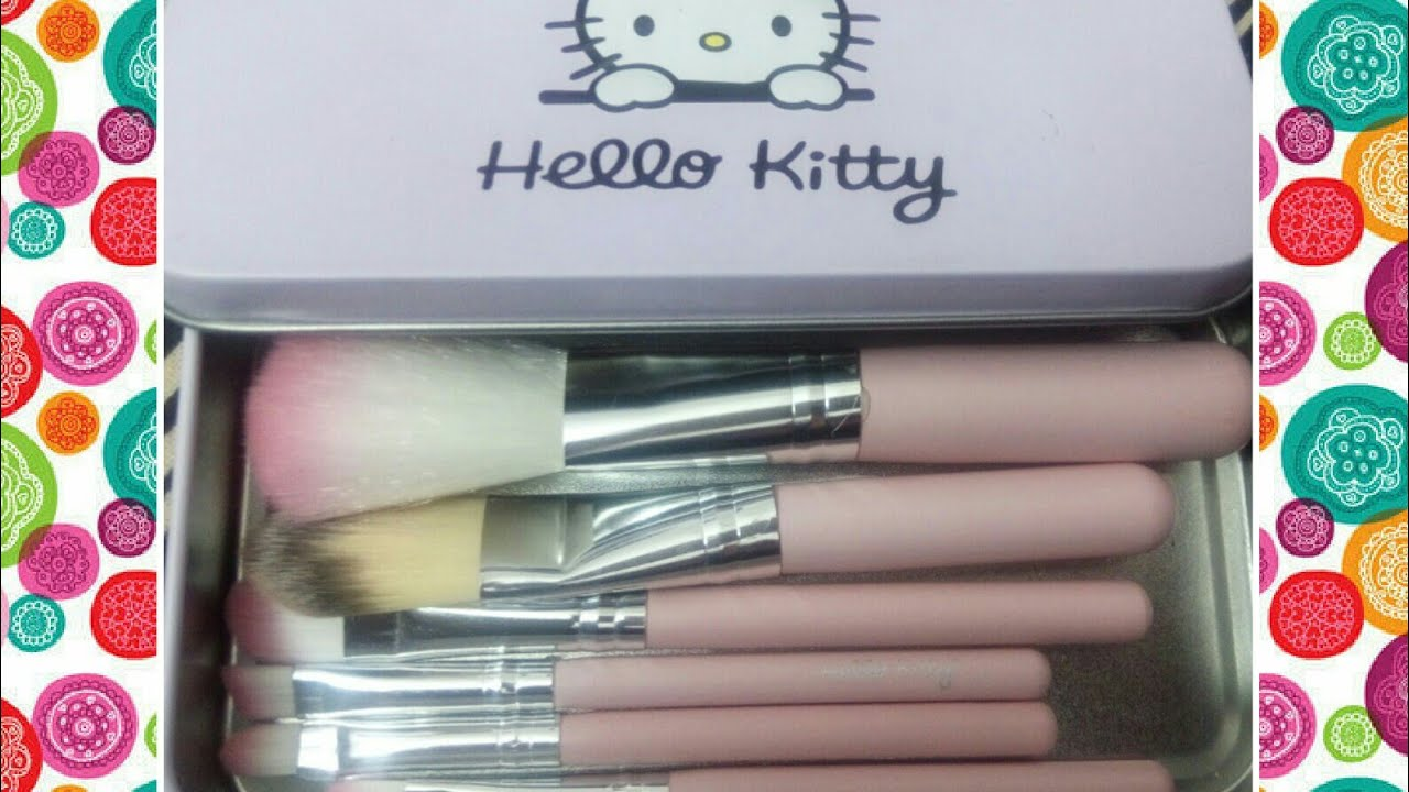 aa49eb30c Hello kitty makeup brushes set review/ cheapest makeup brushes set review