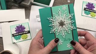 How to make 2 Gorgeous Snowflake Cards