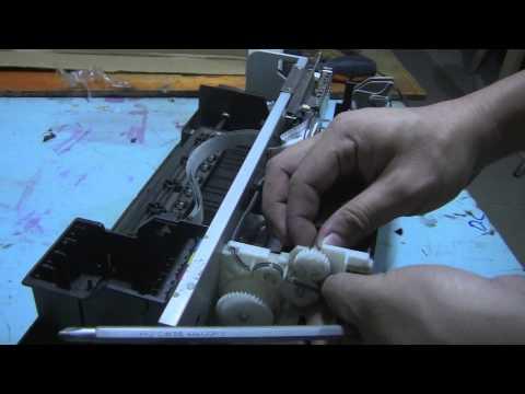 Epson Stylus TX121 Printer Paper Feeder Removal