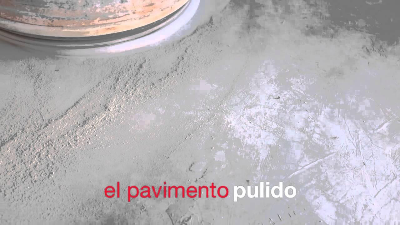 Impermeabilizado de un pavimento de hormigón pulido - YouTube