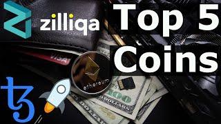 Top 5 Coins To 10 Million (Smart Contract Platforms) Zilliqa, Tezos, Ethereum | Teeka Tiwari List.