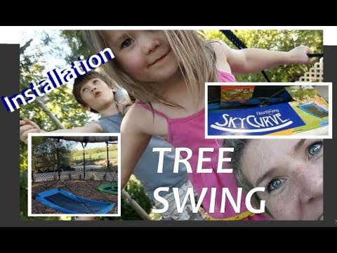 Hearthsong Skycurve Swing Installation How To Install A Rectangle Tree Swing Youtube