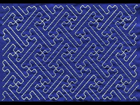 Sashiko Embroidery Quilt Design Tutorial 7 For Very Beginners