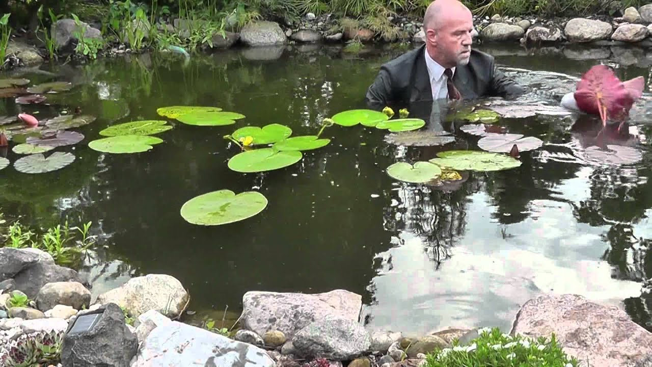 How to plant water lilies in a deep pond youtube for How to water a garden