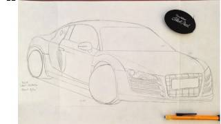 Audi R8 - How-To-Draw Outline
