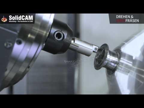 Drehen & Drehfräsen | Fertigung einer Spule mit synchronisierten Bearbeitungen