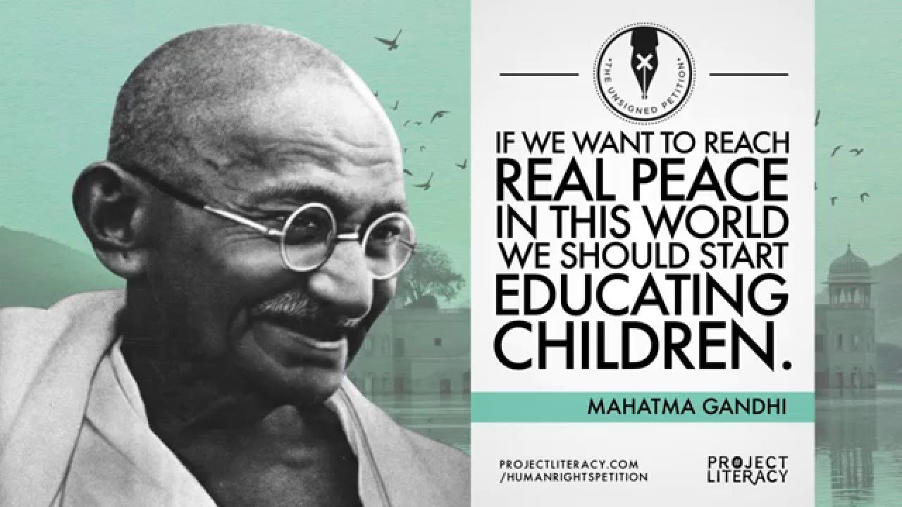 Project Literacy Gandhi Quote Youtube
