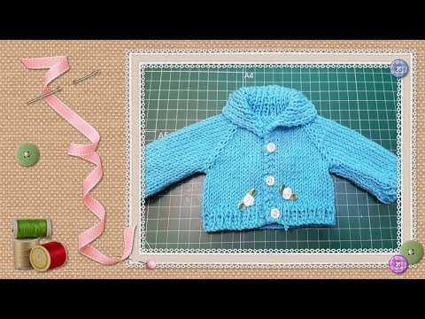 Tutorial: Chaqueta de punto para muñecas / knit jacket for dolls ...