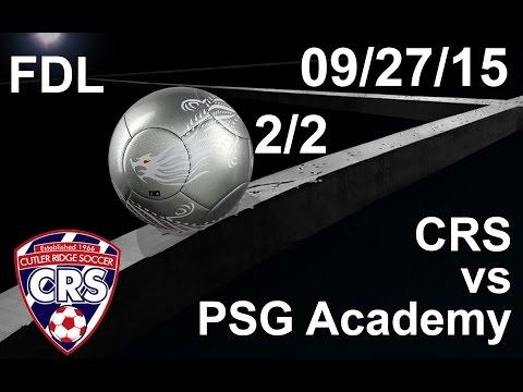 U18 Cutler Ridge Premier 97/98 vs PSG Academy (Second Half)