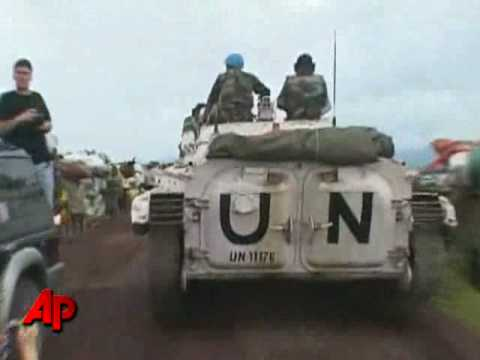 Raw Video: Thousands Flee Rebel Forces in Congo