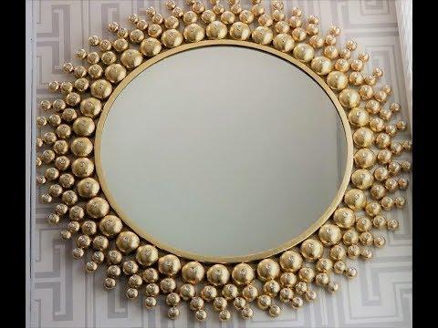 Gold Leaf Mirror DIY