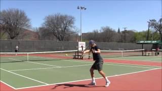 Tennis drills - live ball(forehand, backhand)