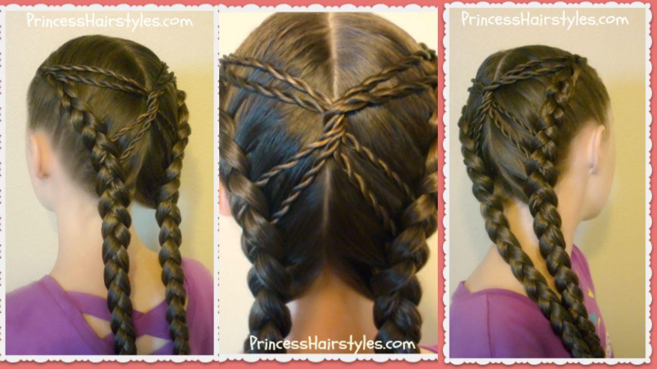 hourglass braid hairstyle tutorial, cute hairstyles - youtube