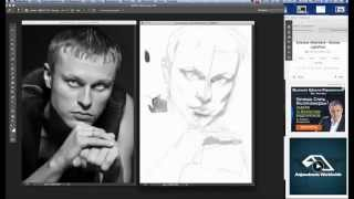 Рисуем портрет, планшет Wacom. Часть-1.