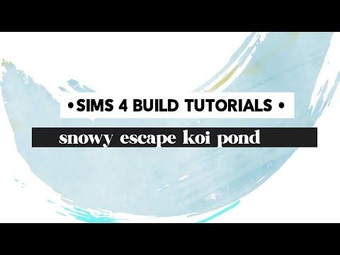 Sims 4 Snowy Escape: How to build a koi pond
