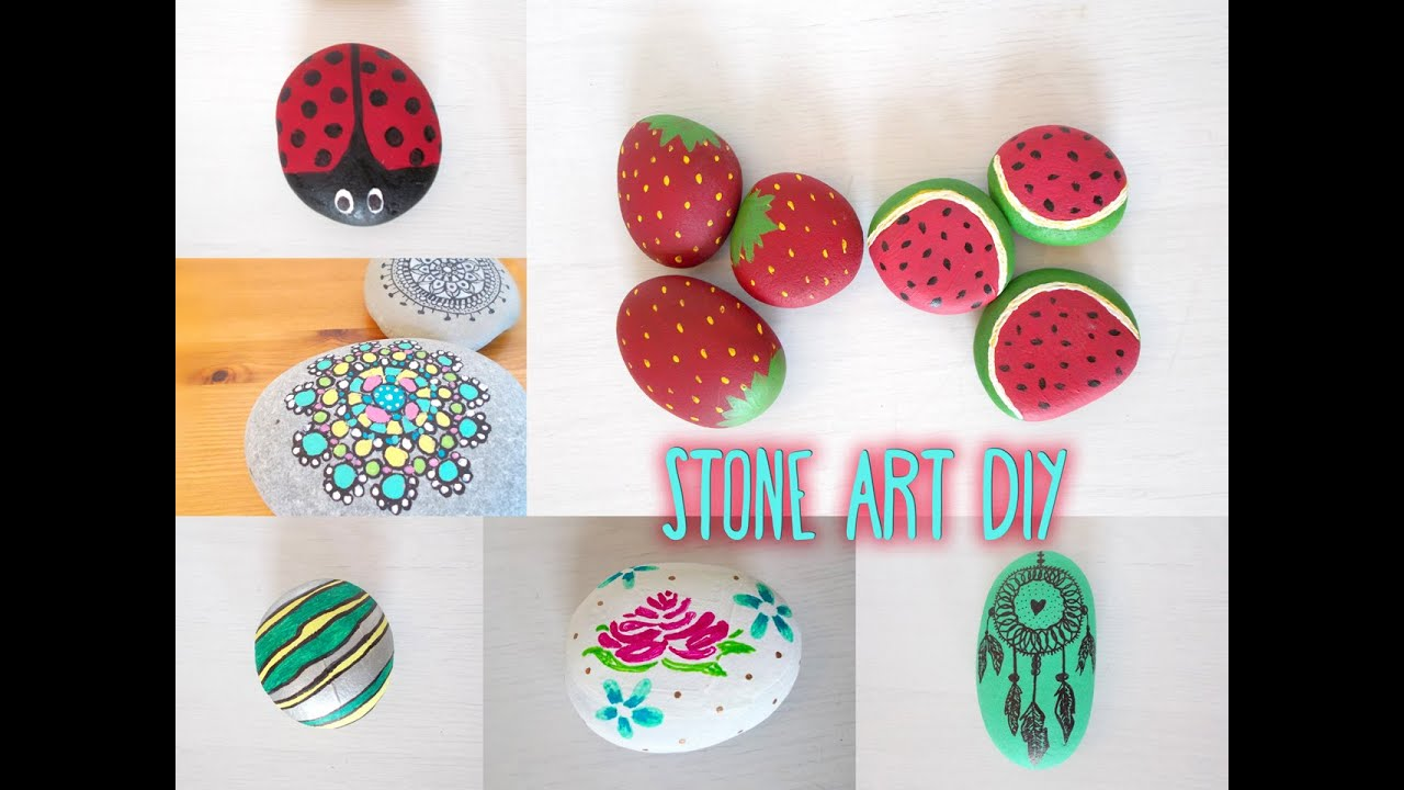 stone art diys including game design youtube