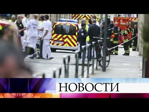 Подозреваемый в совершении взрыва в Лионе попал в объектив камеры наблюдения.
