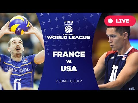 France v USA - Group 1: 2017 FIVB Volleyball World League