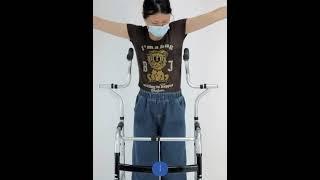 1082접이식 장애인 노인 보행기 보조기 다기능지팡이