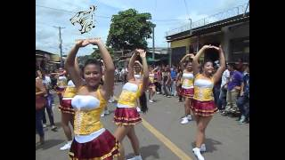 Colegio Salarrué. Desfile de correo en Nahuizalco, Sonsonate