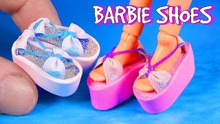 DIY Barbie Shoes ~ Miniature Doll Shoes