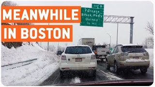 Boston Morning Commute In Snowpocalypse | Meanwhile in Boston