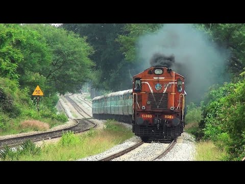 HIGH SPEED SMOKING ALCO LOCOMOTIVES COMPILATION : ERRUPTING AMERICAN LOCOMOTIVE FROM INDIA
