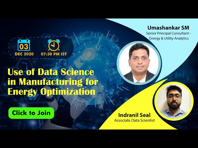 Vidcast - Use of Data Science in Manufacturing for Energy Optimization