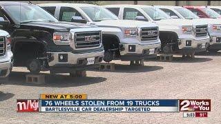 Bartleville Dealership Targeted - Wheels Stolen
