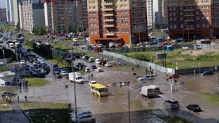 Потоп в Тюмени  8 июня 2015 года