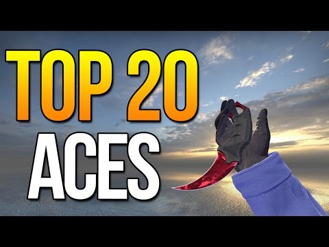 Top 20 Aces Ever By Pro Players ★ CS:GO