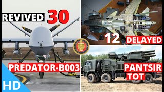 Indian Defence Updates : 30 Predator-B003 Deal,New Pantsir-S1 Offer,12 Su-30 Delay,S400 Detects F-22