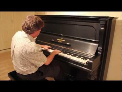 Vintage Steinway Upright Piano - Built In 1900 - Original Woodwork - Ivory Keys