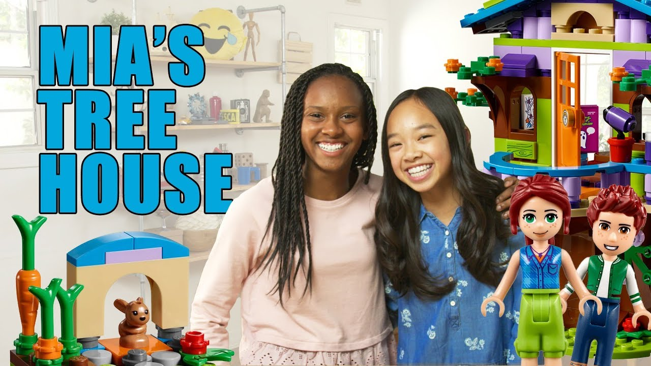Lego Friends Mias Tree House Unboxing The Build Zone Youtube
