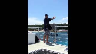 Montego Bay, Jamaica Sandals  On our catamaran trip