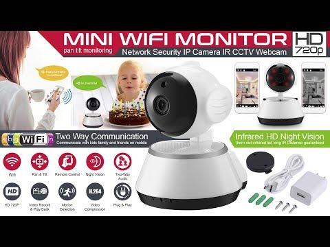 How to Setup a wireless pan tilt 720p security network cctv ip camera - wifi smart net camera