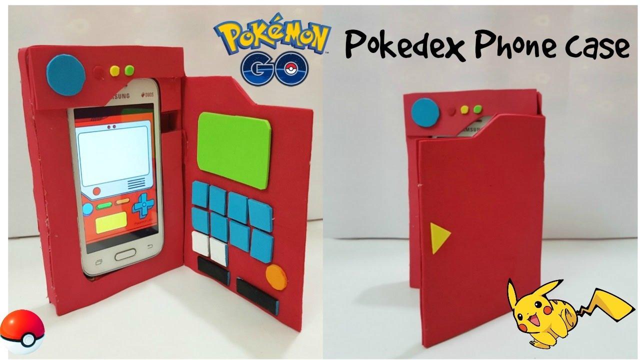 new style 82842 58e6f DIY pokemon go Phone case/DIY Pokedex phone case/ cardboard Phone case