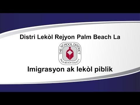 Immigration Message (Creole Version)