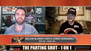 Melvin Blumer talks new opponent Junior Hernandez at RFA 36