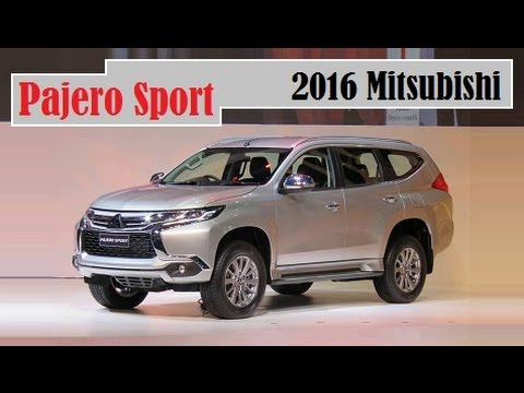 all new 2016 mitsubishi pajero sport details interior exterior and colors pick youtube