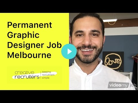 Permanent Graphic Designer Job Melbourne