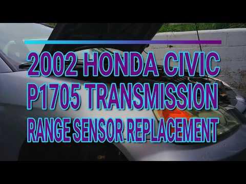 2002 Honda Civic P1705 Transmission Range Sensor Replacement.