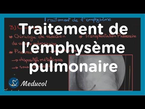 apr�s tube respiratoire pour ventilateur est retir� emphysème pulmonaire: traitement de l