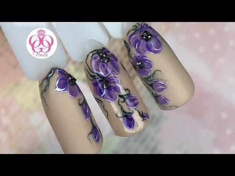 Очень ЛЕГКИЙ дизайн ногтей ЦВЕТЫ♥Весенний маникюр от ОЛЕСИГЕС